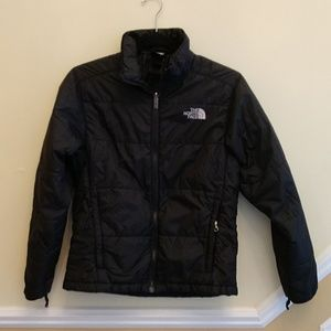 North Face Boys Black Puffer Jacket no hood